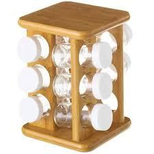 portaspezie legno supporto dispenser contenitore in legno portaspezie con 12