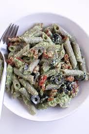 pesto pasta salad simple vegan blog