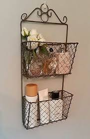 Shabby Chic Wire Basket by Best 25 Rack Shabby Chic Ideas On Pinterest Persianas