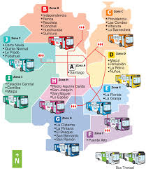 Chicago Bus Routes Map by Santiago Bus Route Map Regions In Colors Bus Route Maps