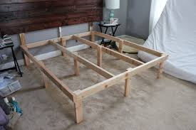 bed frame woodwork california king platform bed diy pdf plans