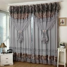 Fancy Drapes Grey Window Curtains Ulinkly