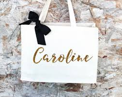 personalized bags for bridesmaids personalized tote etsy