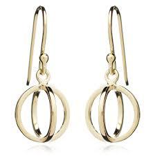 gold circle earrings yellow gold circle geometric earrings martick jewellery
