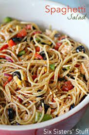 spaghetti salad recipe on sixsistersstuff pasta