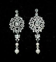 Vintage Pearl Chandelier Earrings 51 Best Wedding Earrings Images On Pinterest Wedding Earrings