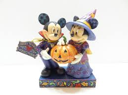nib jim shore disney hosts minnie mickey mouse pumpkin
