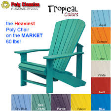Adirondack Chairs Resin Order Poly Classics Adirondack Chair Tropical From Shop Nc Com