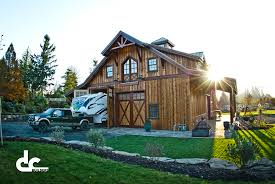 Home Plans With Rv Garage by Oregon Barn Builders Dc Builders