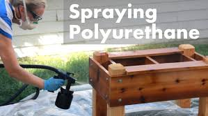 Best Paint For Outdoor Wood Furniture Hvlp Spraying Polyurethane On Outdoor Projects Youtube