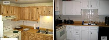 repainting kitchen cabinets before and after repainting kitchen