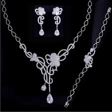 necklace with name ebay images Ebay usa cz jewelry set for wedding rhinestone bridal jewelry set jpg