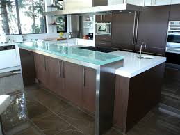 glass kitchen island contemporary kitchen with tempered glass kitchen island countertop
