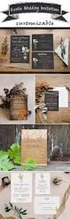 161 best rustic wedding invitations images on pinterest