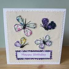 snail card machine embroidered greeting card paper handmade