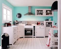 cuisine blanc et organisation déco cuisine blanc et bleu decoration guide