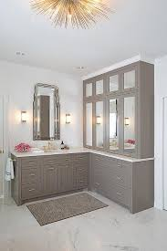 Bathroom Vanity Outlets by Gray Bath Vanity Cabinets With Pink Rug Contemporary Bathroom
