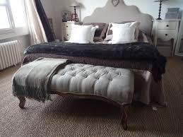 banc de chambre banc bout de lit noir déco banc bout de lit lits