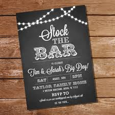 stock the bar invitations chalkboard stock the bar engagement party invitation stock
