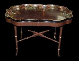 removable tray top table decorative english tray top table for sale antiques com classifieds