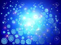 christmas lights that look like snow falling blue christmas lights background with snowflakes falling stock photo