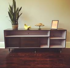 Tv Table Mid Century Modern Record Cabinet Tv Table Media Console W