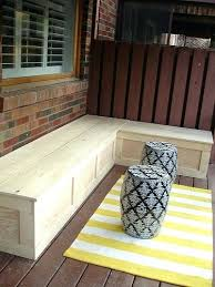 Corner Storage Bench Diy Benches With Storage Deck Corner Storage Bench Via Diy Outdoor