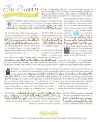 family proclamation the family proclamation free printable