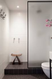 bathroom design idea black shower frames contemporist bathroom design ideas black shower frames the black frame around the frosted glass