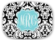 monogrammed serving platters monogrammed folios sweet juniper designs products