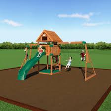 capitol peak wooden swing set backyard discovery