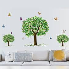 find more wall stickers information about 1pc creative pvc three home decor stickers on sale at reasonable prices buy creative pvc three trees wall sticker livingroom background removable mural home decorative sticker