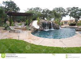 backyard pool house stock photos image 4576753