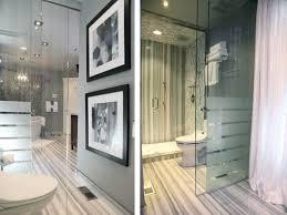 Glass Dividers Interior Design by Calacatta Marble Bathroom Double Over Mirror Vintage Mirror