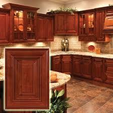 cherry cabinets with dark glaze and raised panels very impressive