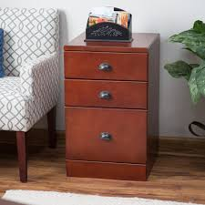 Three Drawer File Cabinet by Belham Living Cambridge 3 Drawer Wood File Cabinet Rich Cherry