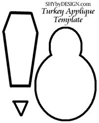 shybydesign turkey applique template holidays