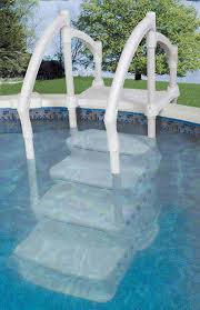 above ground pool stairs steps
