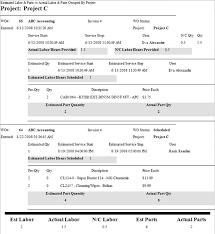 field report template exle estimated vs actual report template