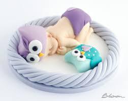owl cake toppers fondant baby owl baby owl cake topper owl baby shower cake