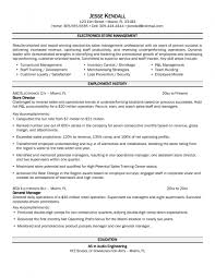 Sample Management Resumes by Retail Store Management Resume Best Free Resume Collection