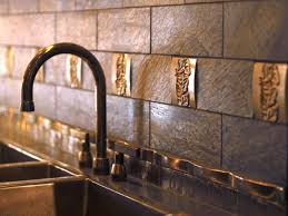 kitchen subway tiles with mosaic accents backsplash tumbled