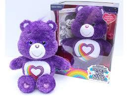 win limited edition rainbow heart care bear animal tales magazine
