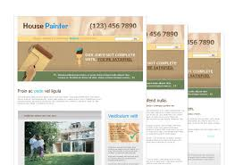 painter painting contractor web template pack from serif com