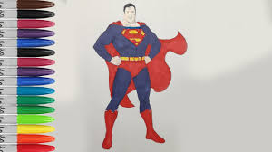 superman standing coloring pages man steel fun pages sailany