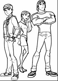impressive ben alien force coloring pages ben 10 coloring