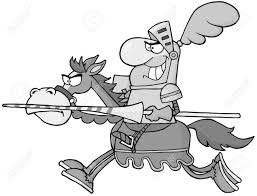 knight riding horse in gray color royalty free cliparts vectors