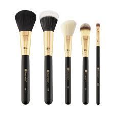 6 pc white makeup brush set with bag bh cosmetics