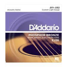 d addario strings phosphor bronze wound ej26 phosphor bronze