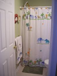 Cute Bathroom Decor by Accessories Cute Kid Bathroom Decoration Using White Curtain Rods